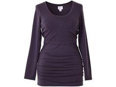 Still Shirt Langarm von boob, Pflaume (Gr.S) - Seidenweich dank 95% Lyocell und 5 % Elasthan