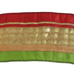 Christmas Ribbon in Red, Gold, Green, Stripe, Ribbon, Christmas Sparkle Tree Theme
