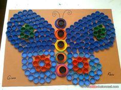 kelebeğimiz - Önce Okul Öncesi Ekibi Forum Sitesi - Biz Bu İşi Biliyoruz Art Activities, Bottle Crafts, Crafts For Kids, Preschool Art, Craft, Preschools, Manualidades, Recycling, Crafts For Toddlers