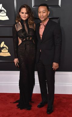 Chrissy Teigen & John Legend from Couples at the 2017 Grammys  Wowza! Chrissy and John always make our jaws drop and tonight is no different.