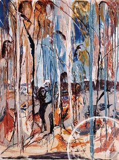 Shoalhaven Riverbank Trees 1 by Arthur Boyd Contemporary Landscape, Abstract Landscape, Landscape Paintings, Abstract Art, Abstract Trees, Landscapes, Australian Painters, Australian Artists, A Utopia