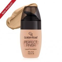 Golden Rose Perfect Finish Liquid Foundation 60 >>> For more information, visit image link. (This is an affiliate link) Too Faced Foundation, No Foundation Makeup, Liquid Foundation, Face Foundation, Golden Rose Cosmetics, Rose Brand, Makeup Essentials, Natural Glow, Beauty Shop
