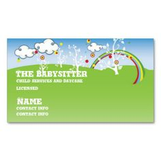 Childcare daycare babysitter business cards pinterest childcare babysitter childcare business card colourmoves
