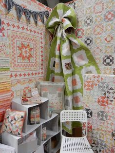 Quilt Market Spring 2016 | Part 3 | A Quilting Life Laundry Basket Quilts, Polka Dot Chair, Blackbird Designs, Primitive Gatherings, Pillow Tutorial, Quilt Material, Sewing Blogs, Basic Grey, Flower Market