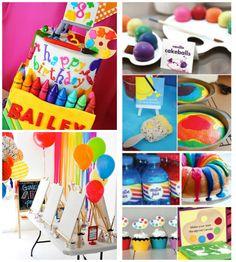 Decoração de festa criativa tema Artes