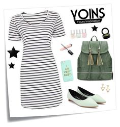 """""""Yoins Contest: Stripes!"""" by shoujoandmore ❤ liked on Polyvore featuring Post-It, ban.do, Nails Inc., MAC Cosmetics, contest, yoins and yoinscollection"""