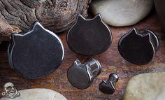 Black obsidian meow plugs Double flare Price (US): $39.95 thru $107.95 /pair