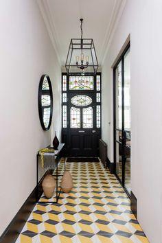 Hallway Decorating, Interior Decorating, Interior Design, Entryway Decor, Bright Hallway, Victorian Tiles, Victorian House, 25 Beautiful Homes, House Slide
