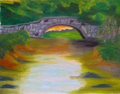 Stone Bridge over Calm Waters: Writer mulling around....