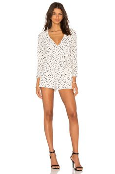 WYLDR In Your Eyes Romper in Ivory