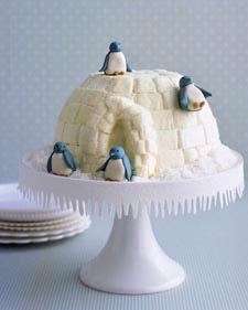 Igloo cake. How cute.