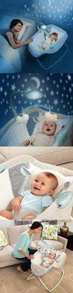 Baby Nursery: Moonlight Rocking Baby Sleeper Bassinet Cradle Newborn Crib Bed BUY IT NOW ONLY: $64.79