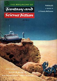 The Magazine of Fantasy and Science Fiction (April 1955), cover by Chesley Bonestell