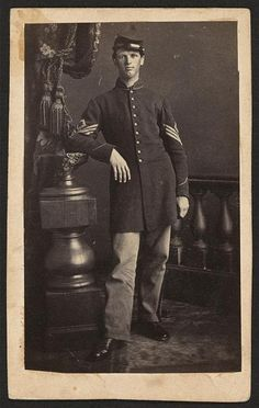 Workmanship In 1860s Civil War Soldier Tintype Photograph Cdv Size With Large American Flag Exquisite