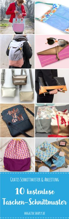 Kostenlose Schnittmuster: 10 Taschen für jede Gelegenheit | Snaply-Magazin