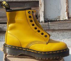 Yellow 1460 Doc Marten Boots. $62.00, via Etsy.