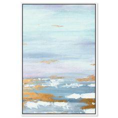 Morning Skyline | Abstract Wall Art by The Oliver Gal Blue Abstract, Abstract Wall Art, Painting Prints, Fine Art Prints, Canvas Frame, Canvas Art, Skyline Painting, Im Blue, Mountain Decor