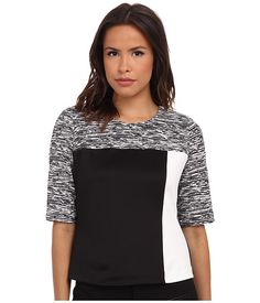 Calvin Klein Calvin Klein  Sleeve Top Blocked w Print Static Womens Clothing for 64.99 at Im in! #sale #fashion #I'mIn