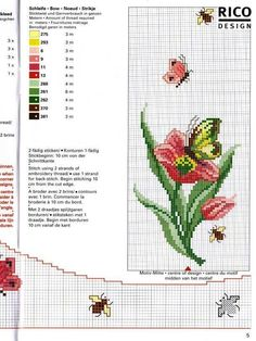 باترون مفرش ايتامين - cross stitch rose pattern ~ شغل ابره NEEDLE CRAFTS