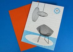 #Midcenturymmodern #notecards #stationery #georgenelson #harrybertoia