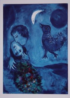 Love this, the Blues are wonderful Marc Chagall, Odilon Redon, Fauvism, Create Words, Stage Set, French Artists, Art Forms, Les Oeuvres, Surrealism