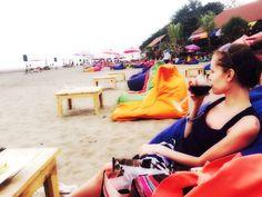 Relax beach summer sunset red wine