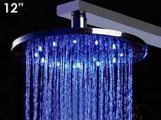 "Alfi Brand 12"" LED Rain Shower Head - Round"