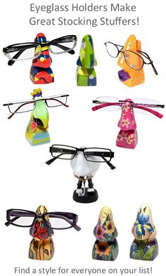 Looking for fun stocking stuffers? Our eyeglass holder collection has a design for everyone on your list. From Sports, original Picasso Styles and Ceramic Tupton Ware with gift boxes, you will find the perfect stocking stuffer gift everyone will love!