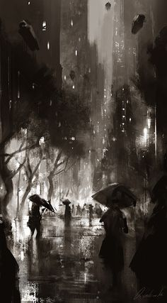 """Want to see me painting """"NightLife"""" series live? Going live in Free access, HD movie -----> Darek Zabrocki Live Demo Painting """"Night Life"""" E. Fantasy Star, Arte Obscura, City Painting, World Of Darkness, Jolie Photo, City Art, Anime Scenery, Aesthetic Art, Dark Art"""