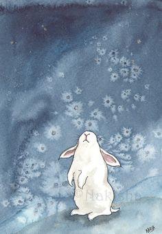 'Looking at the snow' watercolor by Nakisha - I love this