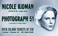 #photograph51 de la dramaturga Anna Ziegler: Nicole Kidman en el papel de Rosalind Franklin