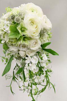 white × green bouquet