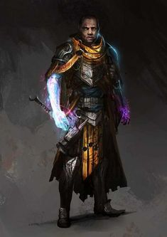 """RPG Brainstorming : thedurrrrian: Concept work done for """"The Roots."""" poc fantasy, black male knight with magic gauntlet Fantasy Warrior, Fantasy Rpg, Fantasy Artwork, Warrior King, Fantasy Character Design, Character Creation, Character Concept, Character Art, Concept Art"""