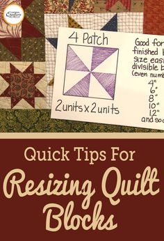 Understanding how a quilt block is made is one of the first important steps in knowing how to resize a block. Heather Thomas teaches you how to determine the base makeup of a block and then how to resize it.