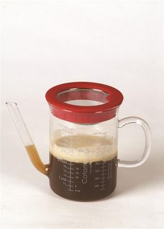 It's a glass (NOT plastic) fat separator for silky sauces