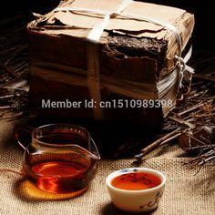 De echte 1968 jaar Meer dan 45 jaar oud pu er thee gezondheid care Puer thee afvallen pu erh decomprimeren pu'er baksteen Puerh de thee