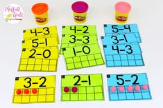 Ten Frame Subtraction Smash- Math Made Fun for Kindergarten! Teach subtraction up to 10 in Kindergarten fun, hands-on ways! Fun math centers and printable games included!