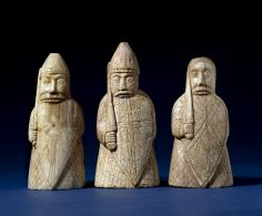 """After consuming buckets of aul (or ale), the Vikings would head fearlessly into battle, often without armor or even shirts. In fact, """"berserk"""" means """"bare shirt"""" in Norse, and eventually took on the meaning of their wild battles. like most medieval brews their ale was bittered with herbal gruits, which were typically hallucinogenic; these carvings are from the British Museum showing beserkers biting their shields in rage..."""