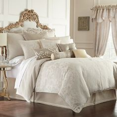 Waterford bedding with European styling and design. Classic.