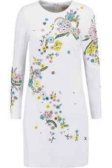 Emilio Pucci Embellished crepe mini dress  | THE OUTNET