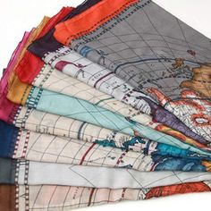 World map scarf from Ebay, available in a variety of different colors.