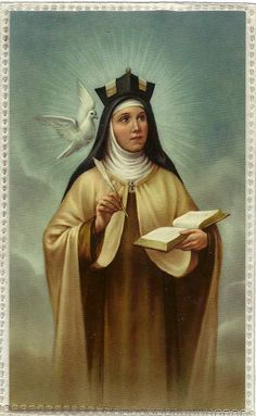 Saint Teresa of Avila. Let nothing disturb you; nothing frighten you. All things are passing. God never changes. Patience obtains all things. Nothing is wanting to him who possesses God. God alone suffices. St. Teresa's Bookmark FN 2-53 made in West Germany