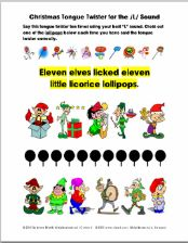 Christmas Tongue Twisters for the R, S, L, and SH Sounds -Articulation Exercise 4 Pages - pinned by @PediaStaff – Please Visit ht.ly/63sNtfor all our pediatric therapy pins