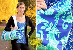 Yoga Mat Shoulder Style Tote | Sew4Home