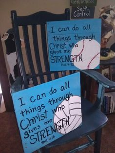 Baseball volleyball pallet signs