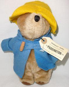 """1982 Paddington Bear By Eden Toys 9"""" Tall With Tag"""
