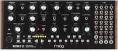 60HP Eurorack-format Modular Monophonic Synthesizer with Voltage-controlled Step Sequencer, Voltage-controlled Moog Ladder Filter, and MIDI Input