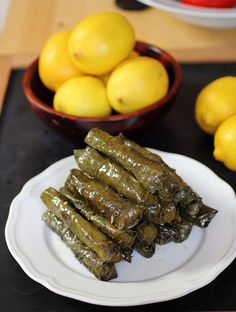 """What you give away you keep."": Minty Dolma (stuffed grape leaves)"