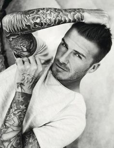 Check out the sleeves on David Beckham