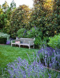 More Southern Living Photos: Our Blue Garden (Tone on Tone) Garden Cottage, Home And Garden, Garden Living, Lavender Garden, Exterior, Dream Garden, Garden Inspiration, Beautiful Gardens, Outdoor Gardens